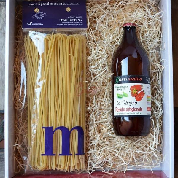 Spaghetti e passata artigianale