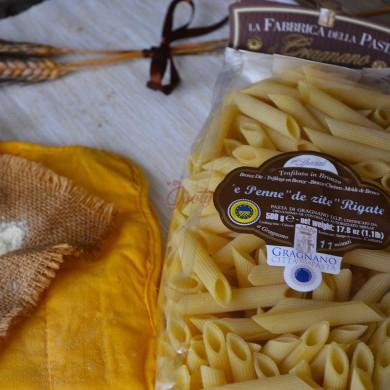 "Pasta di Gragnano ""Penne de zite rigate"" I.G.P."