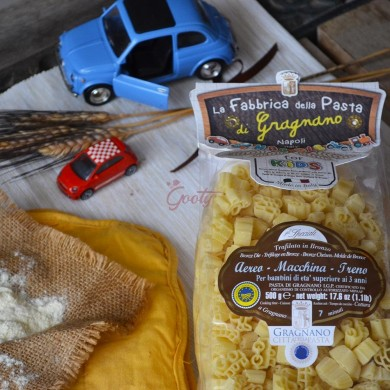 "Pasta di Gragnano ""Aereo - Macchinina - Treno"" I.G.P."