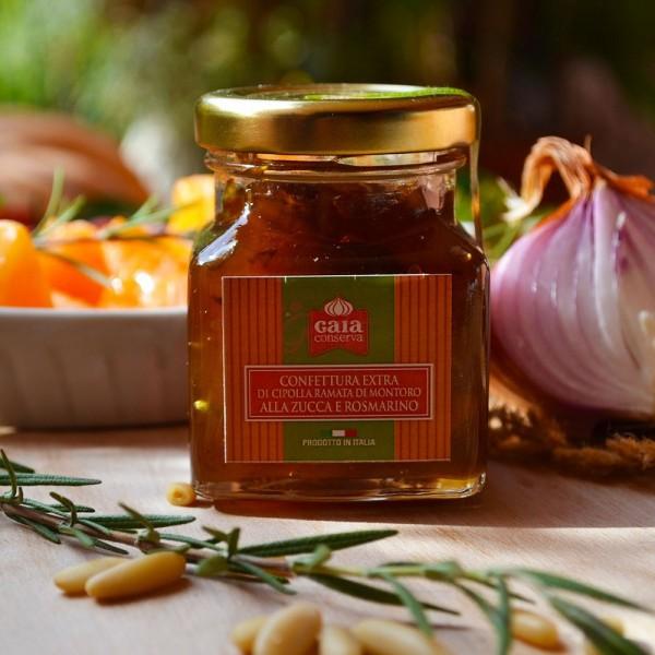 Confettura Extra di Cipolla ramata di Montoro con zucca e rosmarino