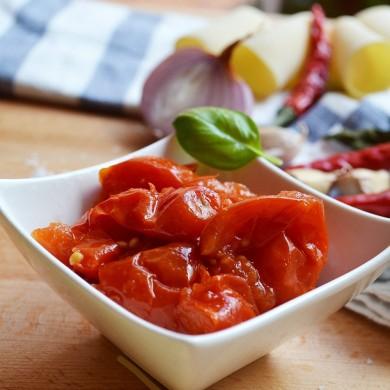 """Pomodorini del Piennolo del Vesuvio D.O.P. Pacchetelle in vetro """"Gourmet"""""""